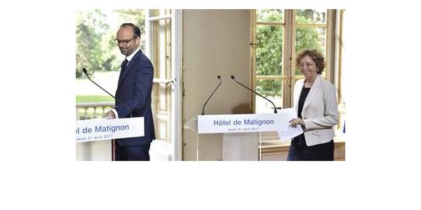 Premierminister Edouard Philippe und Arbeitsministerin Muriel Pénicaud haben nach dreimonatigen Beratungen mit den Sozialpartnern am 31. August 2017 fünf Verordnungen (Ordonnances) zur Reform des Arbeitsrechts in Frankreichvorgelegt, © BusinessFrance 2017