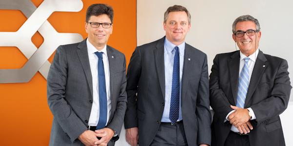 Vorstand Weidmüller 2018 (v.l.): Volker Bibelhausen, Jörg Timmermann und José Carlos Álvarez Tobar, © Weidmüller Interface GmbH & Co. KG 2019